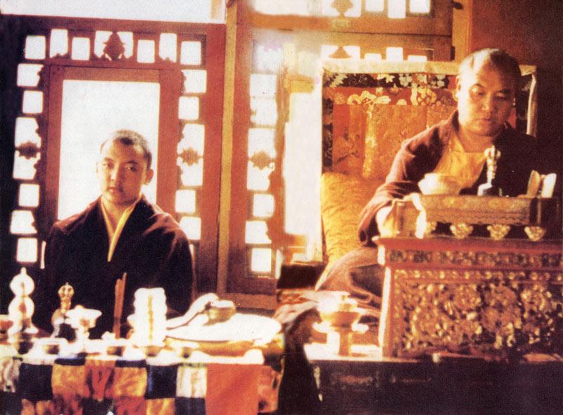 Kunzik Shamar Rinpoché avec Sa Sainteté le XVIe Karmapa à Rumtek, au début des années 70