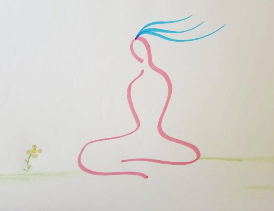 Quand il s'agit de la pratique méditative, cette qualité d'ouverture est aussi très importante. (Illustration : Tenzin Wangpo)